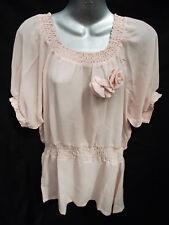 BNWT Ladies Sz 14 Dusty Pink La Strada Tunic Top RRP$80