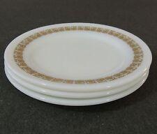 3 Corning Decor Dinner Ware Milk Glass Pyrex  Salad Dessert Lunch Side Plate