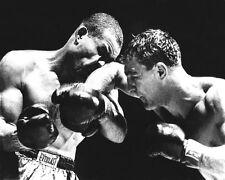 1951 Heavyweight Fight JOE LOUIS vs ROCKY MARCIANO Glossy 8x10 Photo KO Poster