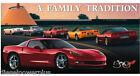 Vintage Replica Tin Metal Sign Corvette Gm Family Tradition Chevy Part Logo 1245