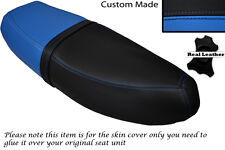 BLACK &LIGHT BLUE CUSTOM FITS HONDA C90 CUB SQUARE LIGHT MODEL DUAL SEAT COVER