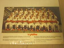 """1975 Philadelphia Phillies 11"""" X 17"""" Team Photo"""