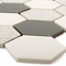 Mosaik Fliese Keramik hellbeige grau Brick unglasiert Duschtasse Bodenfliese MOS26-0206-R10/_m
