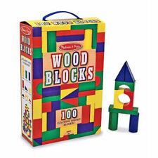 Wooden Color Blocks - 100 Pieces