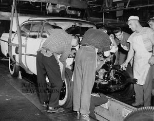 Ford 1956 Automobile Assembly plant Windsor photograph photo car photo