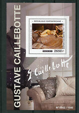 Central African Rep 2015 MNH Gustave Caillebotte 1v S/S Nude Paintings Stamps