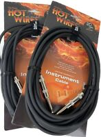 2 X On Stage Hot Wires Instrument IC20 Cables QTR-QTR  20 Feet