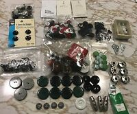 VINTAGE SEWING LOT BUTTONS NEEDLES BOBBINS TOOLS