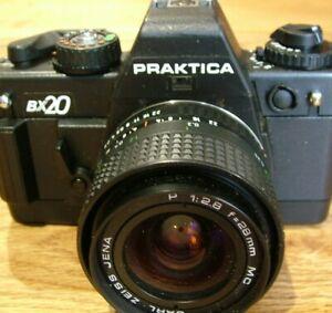 1986 Praktica BCA Electronic SLR 35mm Film Camera wPraktica 50mm f1.8 lens /& cap