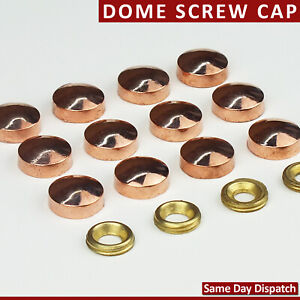 Threaded Copper Gold Dome Screw Snap Caps Covers Electroplated Mirror Display