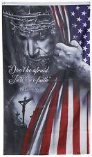Jesus Christian Don't Be Afraid Just Have Faith Flag 3x5ft banner