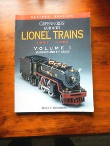 GREENBERG'S GUIDE TO LIONEL TRAINS 1901-1942 VOLUME 1-STD + 2 7/8 - REVISED ED