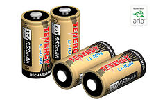 4PCS Tenergy 650mAh 3.7V RCR123A Li-ion Rechargeable Batteries for Arlo Camera