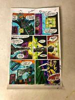 BEAST ART color guide X-MEN AMAZING ADVENTURES #13 1972 STEALS GEM Marvel