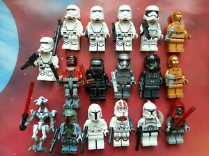 STAR WARS Mini figures: 18 x Clone Trooper & Other Figures Fits LEGO