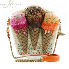 Mary Frances Handbag Meltdown Hand Beaded Bejeweled Ice Cream Cone Shoulder Bag