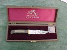 Commemorative American Revolution Bicentennial SPIRIT OF 76 Buck Knife w Coin &