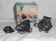 Poly Stone Raccoon Miniature Figurines