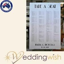 Wedding Seating Chart - Printed A1 Table Seating Board - Art Deco Design