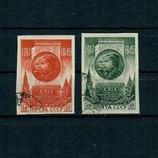SU4283L26 Russia 1946 Anniv of Russian Revolution imperf, SG 1223-24, used