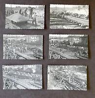 Fotografia d'epoca Ferrovie - Manutenzione binari - Lotto 6 foto - anni '40