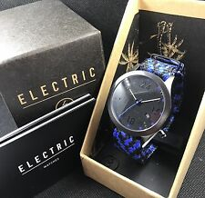 ELECTRIC Watch California Braided 1-Piece Strap Black/Blue NEW! FW01
