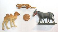 """Ensemble de 3 figurines : Ane Starlux sur socle + panthère """"England"""" + Chameau"""