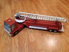 Vintage NYLINT N.F.D. #6 HOOK AND LADDER RED FIRE TRUCK Metal Pressed Steel