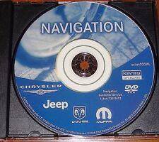 Chrysler Dodge Jeep  RB1 REC Navigation Map Update DVD 2013 05064033AL