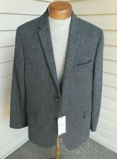 NWT NEW BEN SHERMAN Gray Tweed Blazer Sport Coat Jacket Sz XXL (42/44) Slim