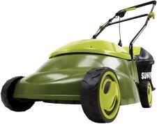 Sun Joe Walk Behind Push Lawn Mower 14 in. 12 Amp Electric Foldable Handle