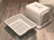 Sieve litter tray With hood For Wood Pellets