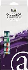 Art Advantage: 12 Color Oil Paint Set, 12ml/.41 FL. OZ. Tubes, Quality Pigments