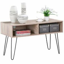Modern Coffee Side/End Table with Storage Shelves TV Stand Entertainment Unit