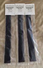 Cap Ban Nu 1/2 Hat Size Reducer Insert BLACK Cotton Knit w Padding 3 Pk