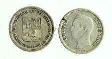 pcc1785_23) Venezuela 25 centimos  Bolivar 1954  Argento