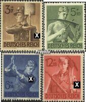 Deutsches Reich 850-853 (kompl.Ausg.) mit Falz 1943 Arbeitsdienst