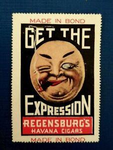 American Regensburg's Havana Cigars - Poster Stamp - Advertising Tobacco Label