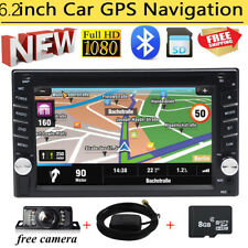 "6.2"" Double 2DIN InDash Car Radio Stereo DVD CD Player GPS Navigation USB Camera"