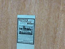 """M7-1 Ephemera 1900 Anzeige Keith """"Cadzow Whisky JAS Keith"""