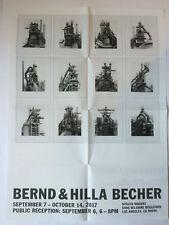 Bernd & Hilla Becher. PRIVATE VIEW invitation/plié Affiche 2017.