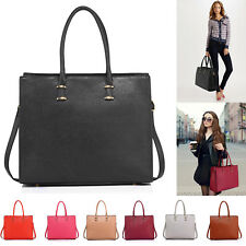 Extra Large Handbag For Women Tote Shoulder Bag Faux Leather Office Strap Work