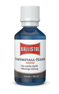 Ballistol Nerofor 50 ml Kaltbrünierung Antik Buntmetallbeize Schwarzbeize 25890