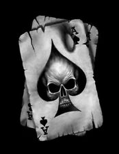 "5.75"" Skull ace of spades vinyl sticker decal motorcycle guitar helmet custom"
