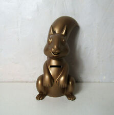 Tirelire écureuil Caisse d'Epargne gold 21cm complet