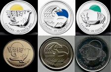 Set of 2011 Parks Canada 25c Coins: Peregrine Falcon, Wood Bison & Orca Whale