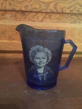 Vintage Shirley Temple Cobalt Blue Glass Creamer Pitcher