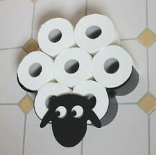 Black Sheep Toilet Roll Paper Holder Wall Mount Bathroom Tissue Storage Gift