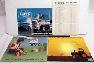 1974 Ertl Toys & Models Sales Catalogs Set Of 3 Trucks Tractors Farm Ertlkins