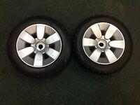 Jazzy SELECT 6 Drive Wheels 2 Black Tires/Silver Mag Rims Flat Free 10x3 P126